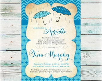 Awesome Printable Sprinkle Baby Shower Invitation   Second Baby Shower Invitation    Digital File