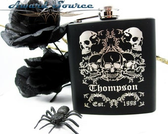 Skull Flask, Hip Flask - Exclusive