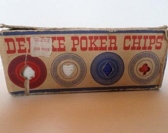 Vintage Deluxe Poker Chips