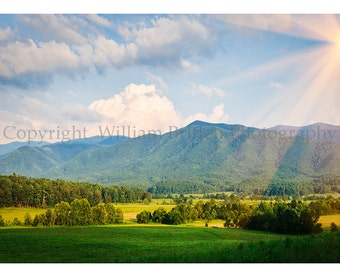 Smoky Mountains Hand Made Greeting Cards by William Britten Photography