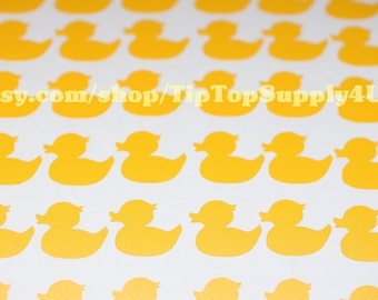 126 mini rubber ducky, rubber duck vinyl decal. Add to cups, napkins,cards, party decoration, treat bag. Baby shower, birthday party.  B-115