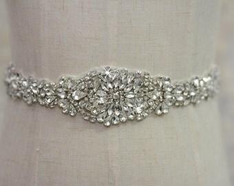 bridal sash, rhinestone sash, bridal belt, wedding sash, wedding belt, crystal bridal sash