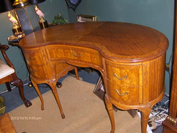 Like this item? - Fabulous Antique French Kidney Shaped Vanity/Desk With Exotic