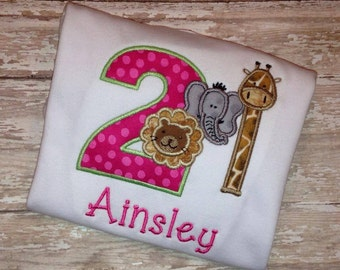 Girly Zoo Birthday Shirt