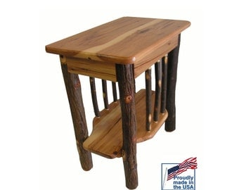 Solid Hickory Wine Rack Table