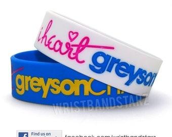 1 SINGLE I Heart Greyson Chance Bracelet Wristband love WIDE