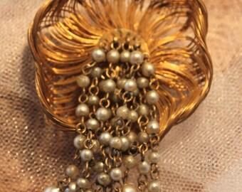 Wonderful Vintage JANNYFLOWER  Brooch,gorgeous MARKED!