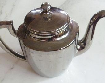 Coffee  or Tea Pot, Silver over Porcelain