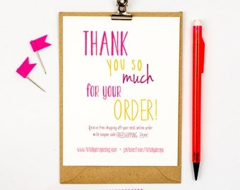 Business Thank You Cards INSTANT DOWNLOAD - Happily Handwritten