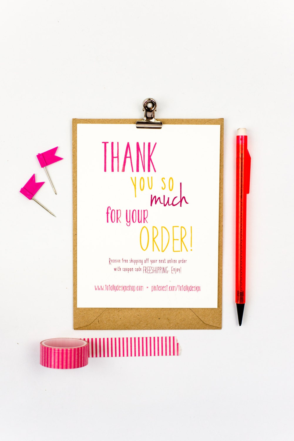 Business Thank You Cards INSTANT DOWNLOAD Happily