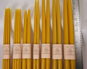 10# Bulk Beeswax Tapers