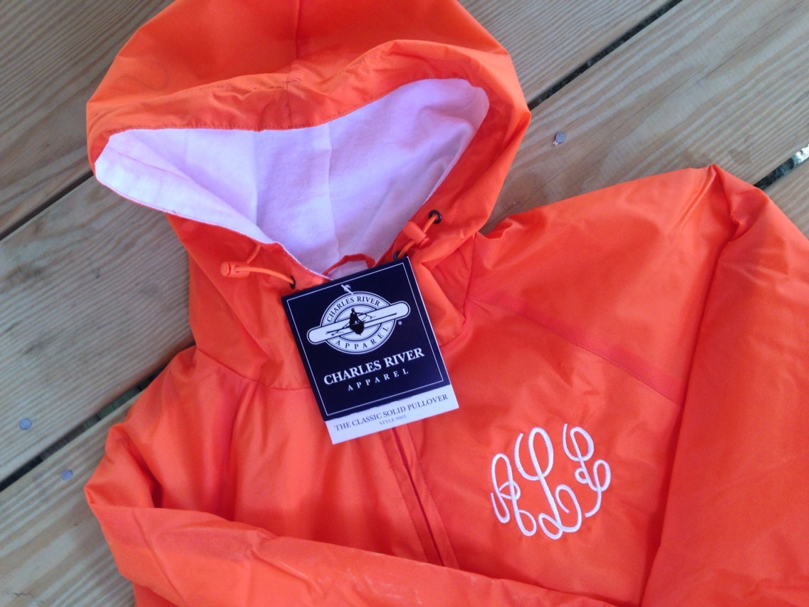 Monogrammed Charles River Classic Pullover by MineEmbroidery