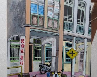 Penang Malaysia Acrylic Painting