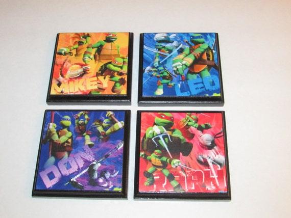 Teenage Mutant Ninja Turtle Set 1 Room Wall Plaques Set Of