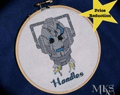 Handles the Cyberman - Doctor Who Cross Stitch Pattern - Instant Download