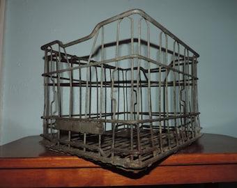 BMV Dairy Milk Crate - Metal Milk Crate - Vintage Milk Crate