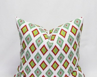 Green Pillows 18 x 18 Inches Christmas Pillow Covers Decorative Throw Pillows Red and Green Holiday decor