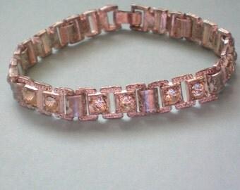 Pot Metal & Paste Link Bracelet - 3455