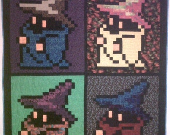 Final Fantasy Black Mage Pop art Quilt