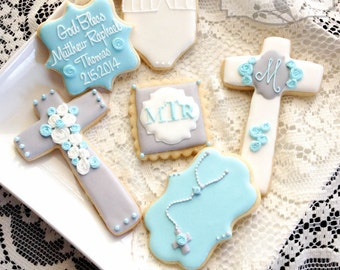 Baptism Cookie Favors - 1 Dozen