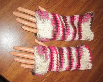 Chocolate Cherry Fingerless Gloves