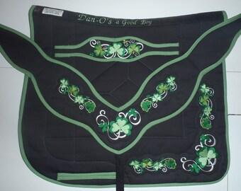 Irish Shamrock Clover saddle pad