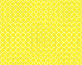 Yellow quatrefoil craft  vinyl sheet - HTV or Adhesive Vinyl -  yellow and white pattern vinyl HTV520