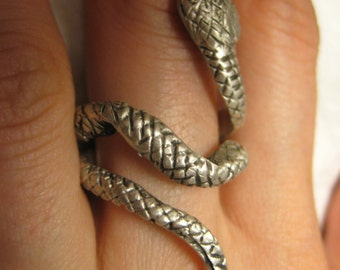 Snake Ring Diamond Sterling SIlver