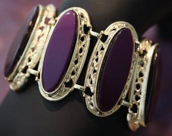 Vintage Purple Lucite Bracelet