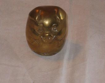 Vintage brass pig figurine piggy