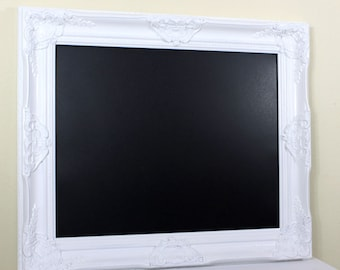 white framed chalkboard magnetic black board white chalkboard farmhouse white kitchen wall decor wedding decor chalk board 215 x 255