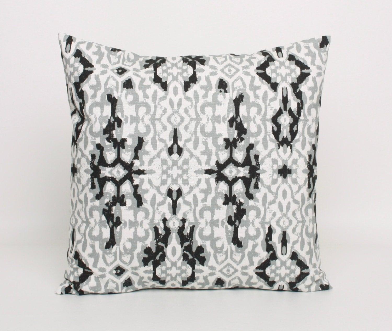 Black White And Gray Throw Pillows : Gray Throw Pillow Cover Light Gray Black and White Pillow