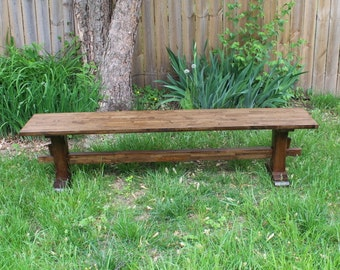 Trestle Bench /  Pedestal Bench / Rustic Bench