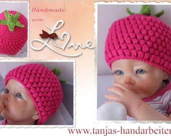 Raspberry Baby Hat Crochet Pattern