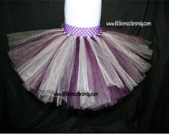 Eggplant Tutu Skirt, Eggplant Silver Tutu, Silver Tutu, Dark Purple Silver Tutu, Girls Tutus, Toddler Tutu Skirt, Plum Tutu, Plum Silver