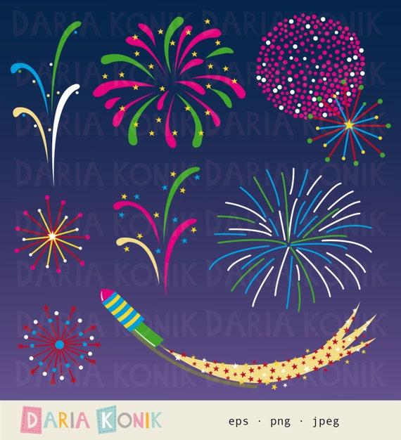 Feuerwerk Clip Art-Silvester Neujahr Nachthimmel digitales