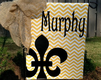 Custom Personalized Garden Sign Fleur (You choose colors)