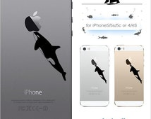 iPhone SE iPhone 6s plus Orca Killer Whale iPhone Case Clear Plastic iPhone5 5s 5c iPhone4 4s made in Japan