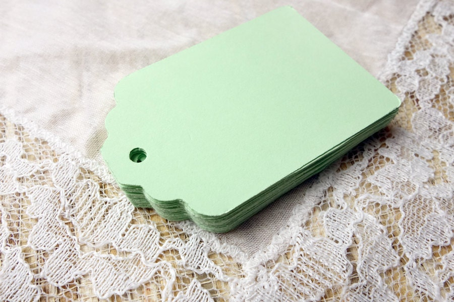 Tags MINT GREEN Hang Tags 25 Wedding Favor Tags Party Gift