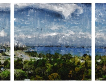 Perth, Western Australia- triptych canvas print