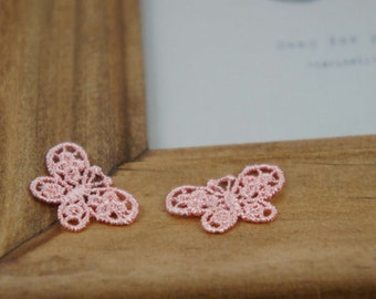 10 pcs Cute Small Size Venice Lace Butterfly Applique, Lace Earrings Materials, Zakka Style