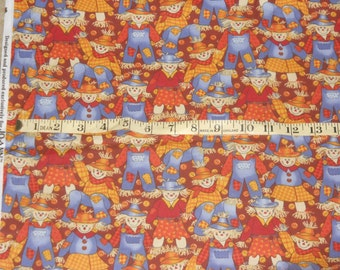 FALL/ HALLOWEEN SCARECROW  Fabric by the yard.