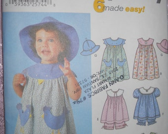SIMPLICITY TODDLER PATTERN #7189 Size 1/2 - 4