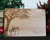Personalized Cutting Board Equestrian Cutting Board Equine Kitchen Decor Horse Decor Horse Lover Horse Cutting Board Mom Gift
