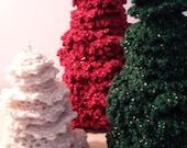 Christmas Tree Ornaments Crocheted Set of Three