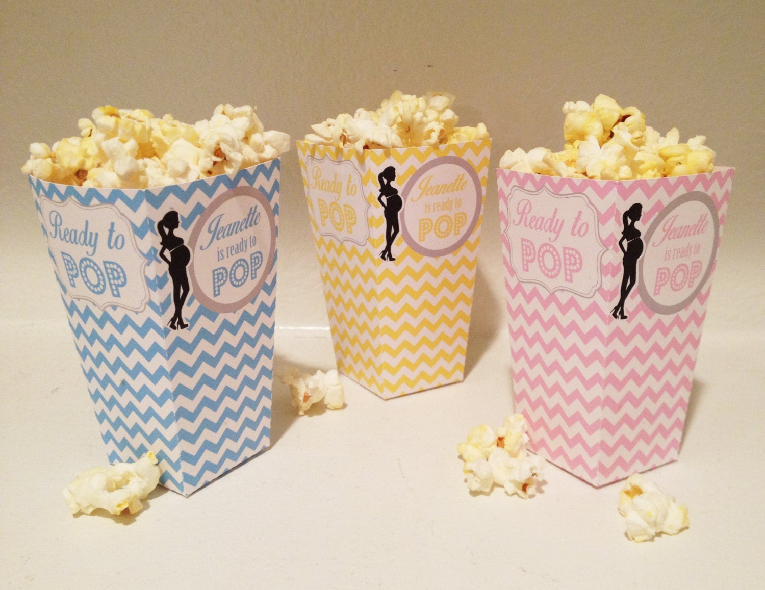 Mini Popcorn Box DIY Custom colors available
