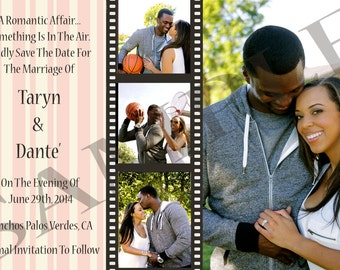 Wedding Save The Date Film Strip