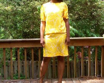Yellow Vintage Dress by LIZ CLAIBORNE