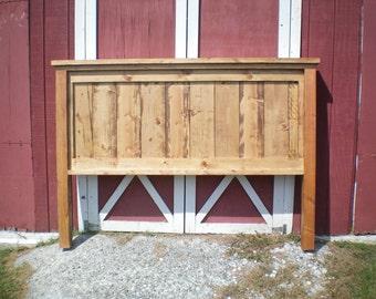 King Farmhouse Headboard- Early American stain