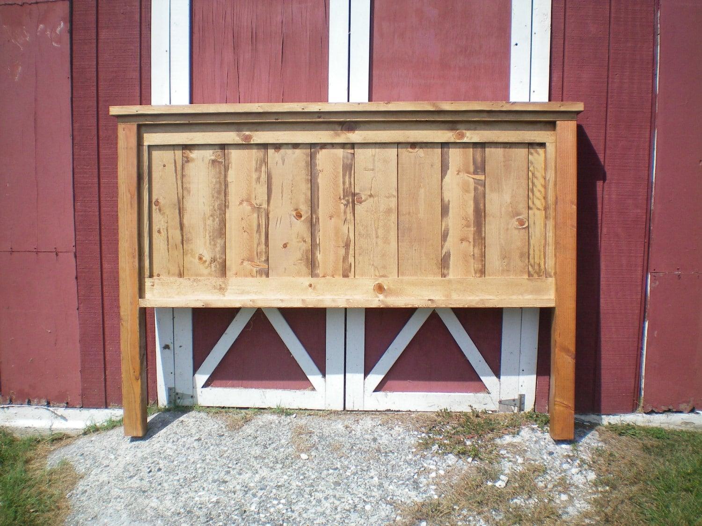 King Farmhouse Headboard Early American by BackwoodsTradingCo